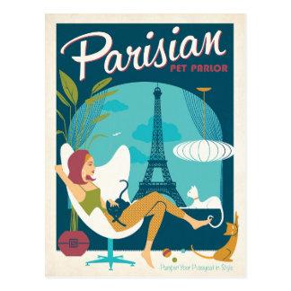 Sala parisiense del mascota postales