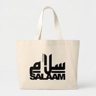 Salaam black large tote bag