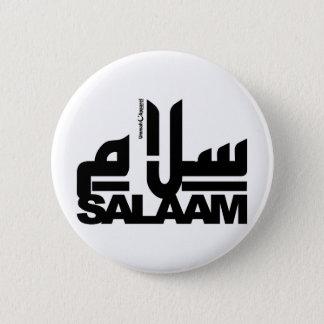 Salaam black pinback button