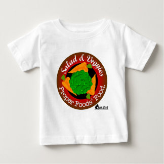 Salad and Vegetables vs Meat Baby T-Shirt