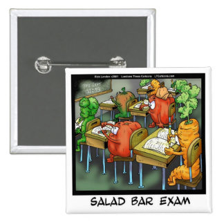 Salad Bar Exam Funny 2 Inch Square Button