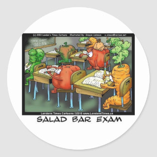 Salad Bar Exam Funny Gifts Tees Mugs & More Classic Round Sticker