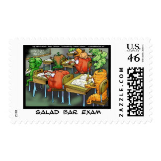 Salad Bar Exam Funny Lawyer Gifts Collectibles Postage Stamp