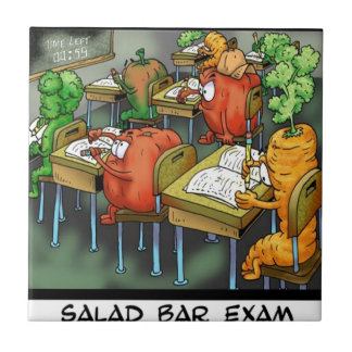 Salad Bar Exam Funny Ceramic Tiles