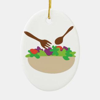 Salad Bowl Ceramic Ornament