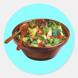 Salad Bowl Classic Round Sticker