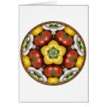 Salad Bowl Mandala Greeting Card