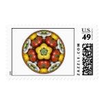Salad Bowl Mandala Postage Stamps