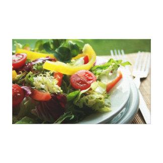 Salad Stretched Canvas Print