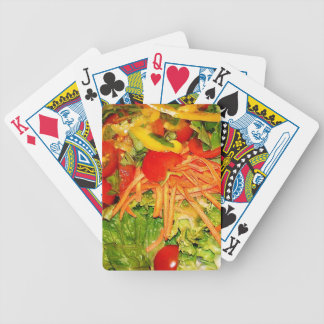 Salad Carrots Lettuce Peppers Yellow Bicycle Playing Cards
