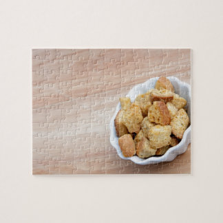 Salad Croutons in a bowl Jigsaw Puzzles