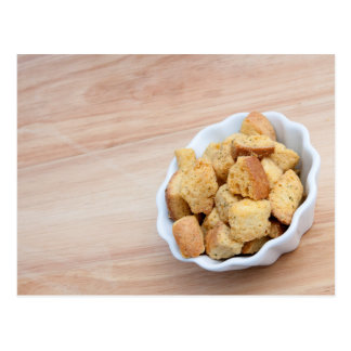 Salad Croutons in a bowl Postcard