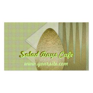 Salad Days Cafe Business Card