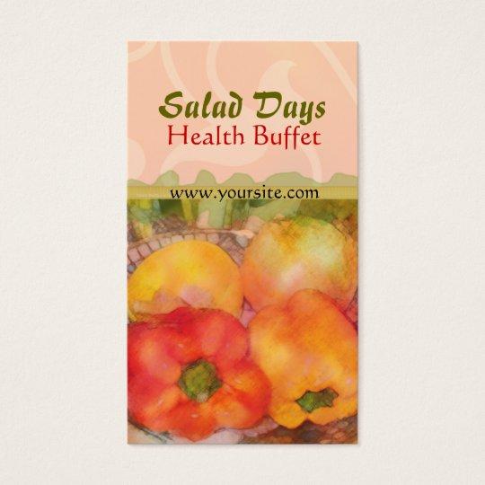 Salad Days Health Buffet Business Card