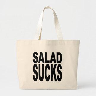 Salad Sucks Large Tote Bag