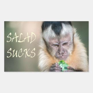 Salad Sucks range Rectangular Sticker