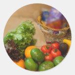 Salad Tonight! Round Stickers