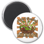 Salad Tossing Champion 2 Inch Round Magnet