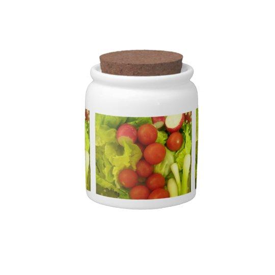 Salad Vegetables Candy Jar