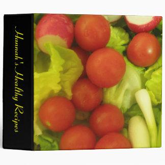 Salad Vegetables Custom Recipe Binder