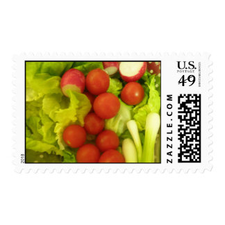 Salad Vegetables Postage Stamps