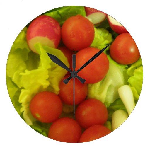 Salad Vegetables Wall Clock