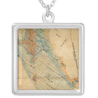 Saladar y mapa de las tierras de la marea colgante cuadrado