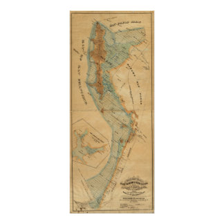 Saladar y mapa de las tierras de la marea posters