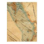 Saladar y mapa de las tierras de la marea postal