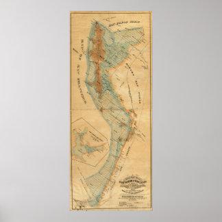 Saladar y mapa de las tierras de la marea póster
