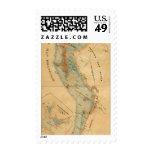 Saladar y mapa de las tierras de la marea sellos