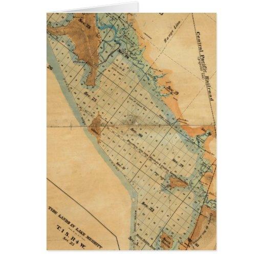 Saladar y mapa de las tierras de la marea tarjeta de felicitación