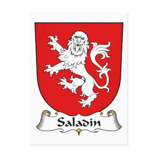 Saladin Family Crest Canvas Print