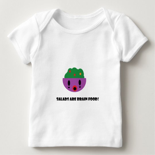Salads are Brain Food Baby T-Shirt