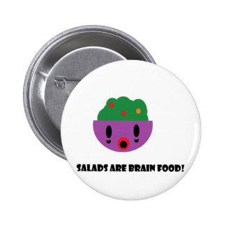 Salads are Brain Food Pinback Button