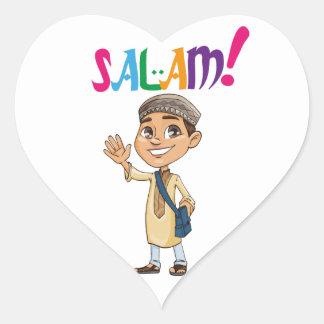 SALAM for boy Heart Sticker