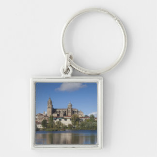 Salamanca Cathedrals and town 2 Silver-Colored Square Keychain