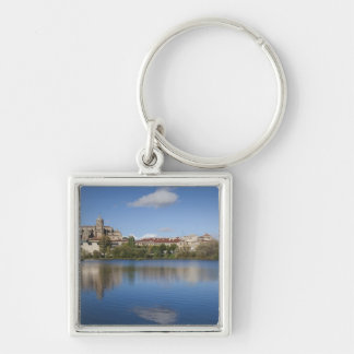 Salamanca Cathedrals and town Silver-Colored Square Keychain
