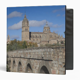 Salamanca Cathedrals, viewed from Puente Romano 3 Ring Binder