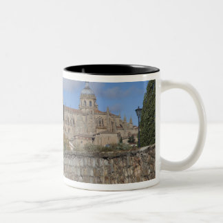 Salamanca Cathedrals, viewed from Puente Romano Two-Tone Coffee Mug