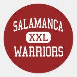 Salamanca - guerreros - centro - Salamanca Nueva Etiquetas Redondas