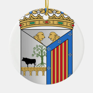 Salamanca (Spain) Coat of Arms Double-Sided Ceramic Round Christmas Ornament