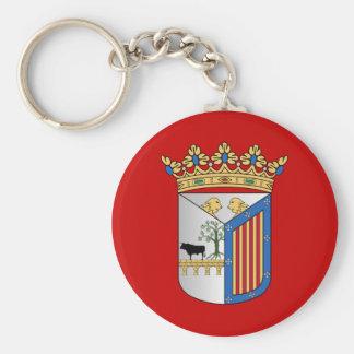 Salamanca (Spain) Flag Basic Round Button Keychain
