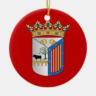 Salamanca (Spain) Flag Ceramic Ornament