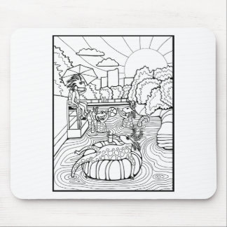 Salamander Barton Creek Line Art Design Mouse Pad