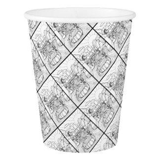 Salamander Barton Creek Line Art Design Paper Cup