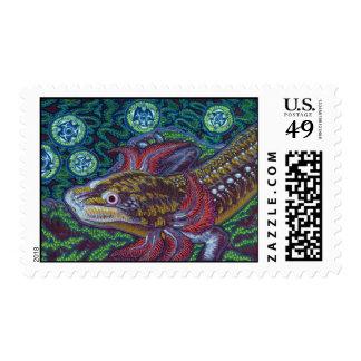 Salamander de Barton Springs (sosorum de Eurycea) Sellos Postales