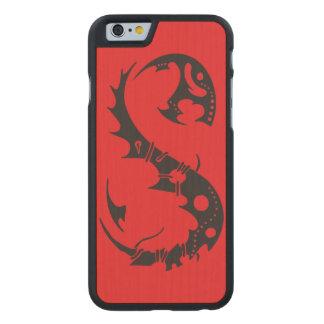 Salamander de la tinta funda de iPhone 6 carved® slim de arce