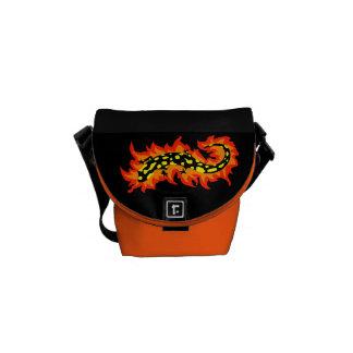 Salamander Flaming Courier Bag