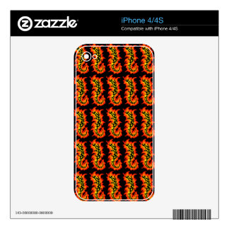 Salamander Flaming Decal For The iPhone 4S